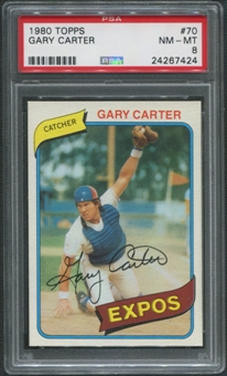 1980 Topps Baseball #70 Gary Carter PSA 8 (NM-MT)