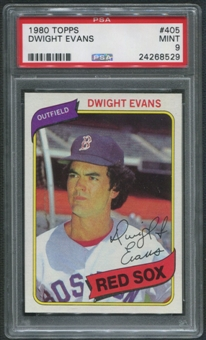 1980 Topps Baseball #405 Dwight Evans PSA 9 (MINT)