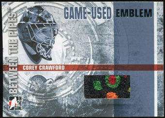 2006/07 ITG Between The Pipes Emblems #GUE34 Corey Crawford SP /10