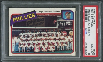 1980 Topps Baseball #526 Philadelphia Phillies Team Checklist PSA 8 (NM-MT)