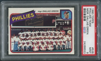 1980 Topps Baseball #526 Philadelphia Phillies Team Checklist PSA 9 (MINT)