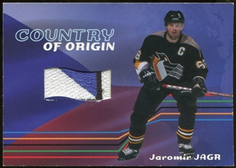 2001/02 BAP Memorabilia Country of Origin #CO24 Jaromir Jagr SP /12 Patch