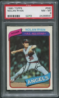 1980 Topps Baseball #580 Nolan Ryan PSA 8 (NM-MT)