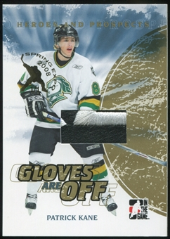 2007/08 ITG Heroes and Prospects Gloves Are Off Gold #GO01 Patrick Kane 1/1 Spring Expo