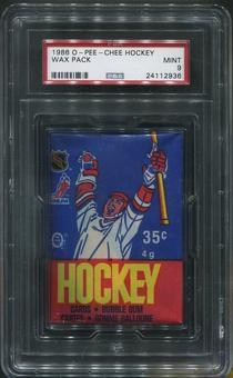 1986/87 O-Pee-Chee Hockey Wax Pack PSA 9 (MINT)