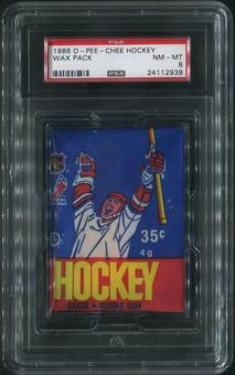 1986/87 O-Pee-Chee Hockey Wax Pack PSA 8 (NM-MT)