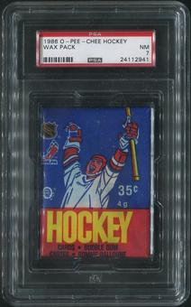 1986/87 O-Pee-Chee Hockey Wax Pack PSA 7 (NM)