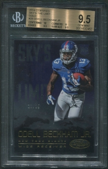 2014 Certified #28 Odell Beckham Jr. Sky's the Limit Rookie Gold #23/25 BGS 9.5 (GEM MINT)