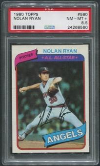 1980 Topps Baseball #580 Nolan Ryan PSA 8.5 (NM-MT+)