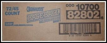1991 Donruss Series 1 Baseball Rack Case