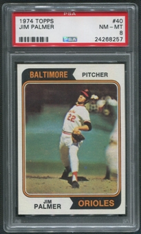 1974 Topps Baseball #40 Jim Palmer PSA 8 (NM-MT)