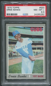 1970 Topps Baseball #630 Ernie Banks PSA 8.5 (NM-MT+)