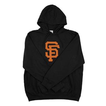 San Francisco Giants Majestic Black Suedetek Fleece Hoodie (Adult S)