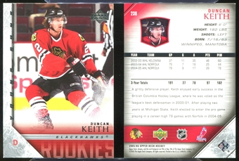2005/06 Upper Deck #230 Duncan Keith YG RC