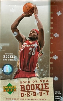 2006/07 Upper Deck Rookie Debut Basketball Hobby Box