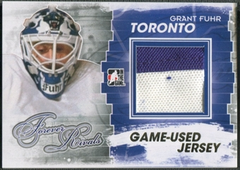2012/13 ITG Forever Rivals #M17 Grant Fuhr Gold Game Used Jersey /10