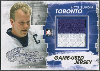2012/13 ITG Forever Rivals #M21 Mats Sundin Gold Game Used Jersey /10