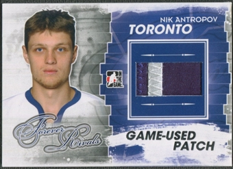 2012/13 ITG Forever Rivals #M25 Nik Antropov Silver Game Used Patch /3