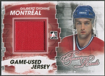 2012/13 ITG Forever Rivals #M31 Gilbert Dionne Gold Game Used Jersey /10