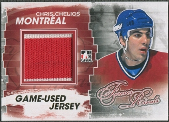 2012/13 ITG Forever Rivals #M28 Chris Chelios Gold Game Used Jersey /10