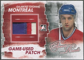 2012/13 ITG Forever Rivals #M31 Gilbert Dionne Red Game Used Patch /6