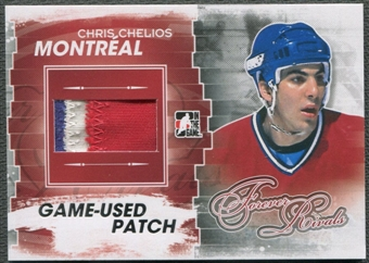 2012/13 ITG Forever Rivals #M28 Chris Chelios Silver Game Used Patch /3
