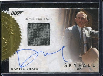 2015 James Bond Archives Case-Incentives #DC Daniel Craig as James Bond/Autographed Reli
