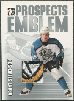 2004/05 ITG Heroes and Prospects #10 Grant Stevenson Rookie Silver Emblem /30