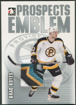 2004/05 ITG Heroes and Prospects #15 Brad Boyes Rookie Silver Emblem /30