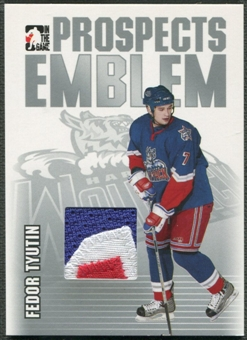 2004/05 ITG Heroes and Prospects #14 Fedor Tyutin Rookie Silver Emblem /30