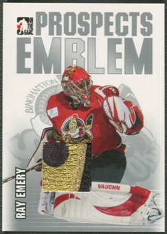 2004/05 ITG Heroes and Prospects #13 Ray Emery Rookie Silver Emblem /30