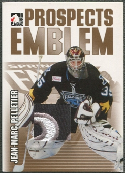 2004/05 ITG Heroes and Prospects #23 Jean-Marc Pelletier Rookie Gold Emblem /10