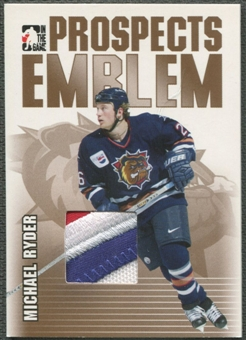 2004/05 ITG Heroes and Prospects #25 Michael Ryder Rookie Gold Emblem /10