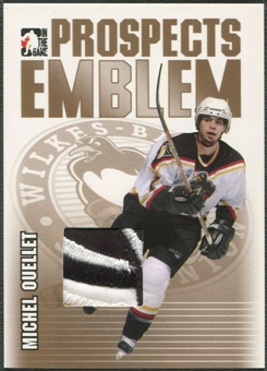 2004/05 ITG Heroes and Prospects #12 Michel Ouellet Rookie Gold Emblem /10