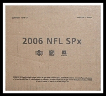 2006 Upper Deck SPx Football Hobby 14-Box Case