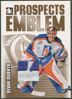 2004/05 ITG Heroes and Prospects #18 Devan Dubnyk Rookie Gold Emblem /10