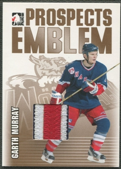 2004/05 ITG Heroes and Prospects #27 Garth Murray Rookie Gold Emblem /10