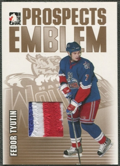2004/05 ITG Heroes and Prospects #14 Fedor Tyutin Rookie Gold Emblem /10