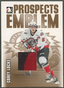 2004/05 ITG Heroes and Prospects #21 Corey Locke Rookie Gold Emblem /10