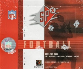 2006 Upper Deck SPx Football Rookie Autograph Gold Insert Set (151-180)