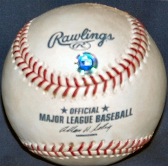 Game Used MLB Baseball Oakland A's at New York Yankees (2001 ALDS Game 2)