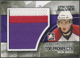 2010/11 ITG Heroes and Prospects #JM23 Taylor Doherty Top Prospects Jumbo Number Silver /3