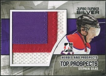 2010/11 ITG Heroes and Prospects #JM22 Stephen Silas Top Prospects Jumbo Number Silver /3