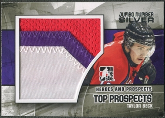 2010/11 ITG Heroes and Prospects #JM17 Taylor Beck Top Prospects Jumbo Number Silver /3