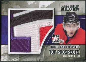 2010/11 ITG Heroes and Prospects #JM07 Emerson Etem Top Prospects Jumbo Emblem Silver /3