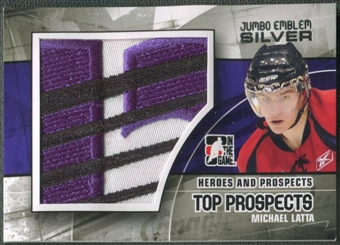 2010/11 ITG Heroes and Prospects #JM05 Michael Latta Top Prospects Jumbo Emblem Silver /3