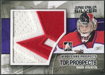 2010/11 ITG Heroes and Prospects #JM12 Mark Visentin Top Prospects Jumbo Emblem Silver /3
