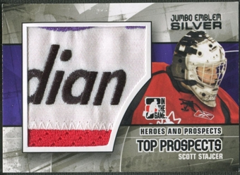 2010/11 ITG Heroes and Prospects #JM20 Scott Stajcer Top Prospects Jumbo Emblem Silver /3