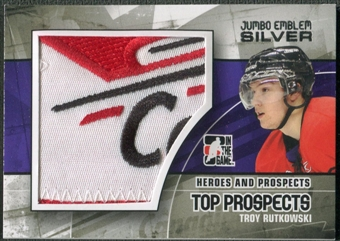 2010/11 ITG Heroes and Prospects #JM24 Troy Rutkowski Top Prospects Jumbo Emblem Silver /3