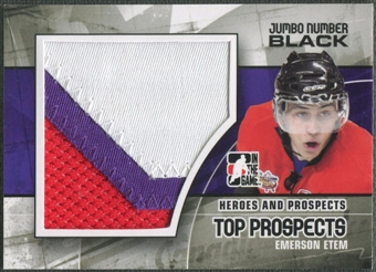 2010/11 ITG Heroes and Prospects #JM07 Emerson Etem Top Prospects Jumbo Number Black /6